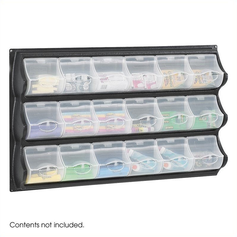 Safco Black 18 Pocket Panel Bins