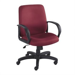 Safco Poise Burgundy Executive Mid-Back Office Chair