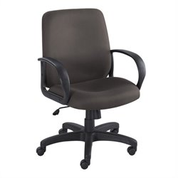 Safco Poise Black Executive Mid-Back Seating