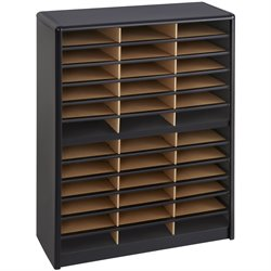 Safco Value Sorter 36 Compartment Metal Flat Files Organizer in Black