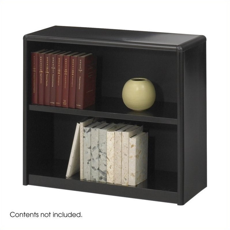 Safco ValueMate 2 Shelf Economy Steel Bookcase in Black