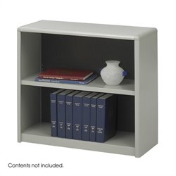 2-Shelf ValueMate Grey Economy Steel Bookcase