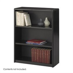 3 Shelf Economy Steel Bookcase in Black