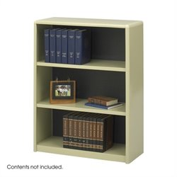 3-Shelf ValueMate Sand Economy Steel Bookcase