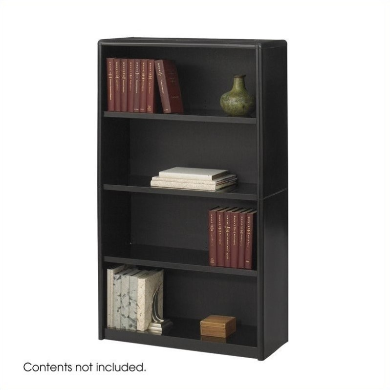 ValueMate 4 Shelf Economy Steel Bookcase in Black