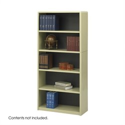 Safco 5-Shelf ValueMate Sand Economy Steel Bookcase