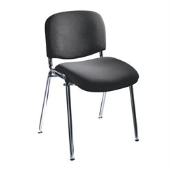 Safco Workspace Visit Upholstered Black Stacking Chairs (Set of 2)