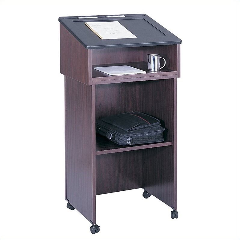 Safco Medium Oak Tabletop Lectern