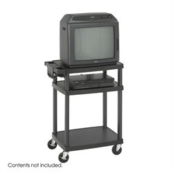 Safco Black Plastic AV Cart