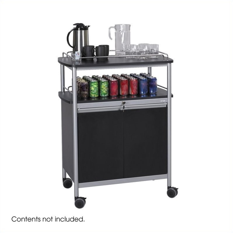 Black Mobile Beverage Cart