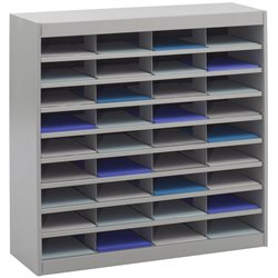 Safco E-Z Stor Grey Mail Organizer -  36 Letter Size Compartments