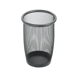Safco Onyx Mesh Small Round Wastebasket (Set of 3)