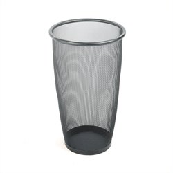 Safco Onyx Mesh Large Round Wastebasket (Set of 3)