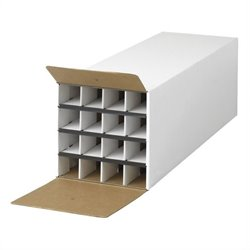 Document and Gift Wrap Paper Roll Storage Organizer in White