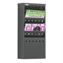 5-Pocket Steel Magazine Rack in Black