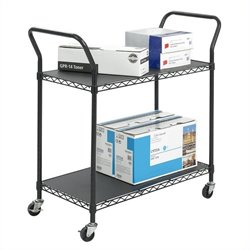Safco Wire Utility Cart in Black