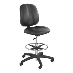 Safco Apprentice II Extended Height Vinyl Chair in Black