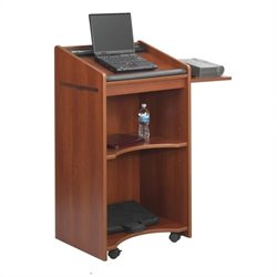 Safco Executive Mobile Lectern in Cherry