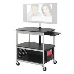 Safco Scoot Open Flat Panel Multimedia Cart