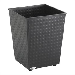 Safco Checks Wastebasket in Black (Set of 3)