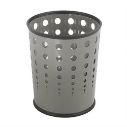 Safco Bubble Wastebasket in Gray -  Set of 3