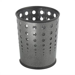 Safco Bubble Wastebasket in Charcoal - Set of 3
