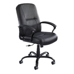Safco Serenity™ High Back Big and Tall Office Chair in Black Leather