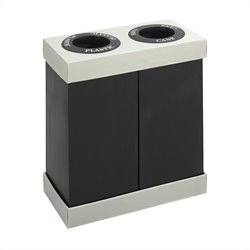 Safco At-Your-Disposal® Double Bin Recycling Center in Black