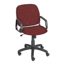 Safco Cava Urth High Back Chair in Burgundy