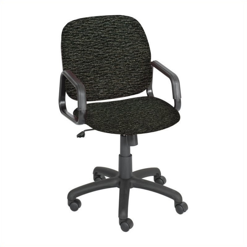 Safco Cava Urth High Back Office Chair in Black