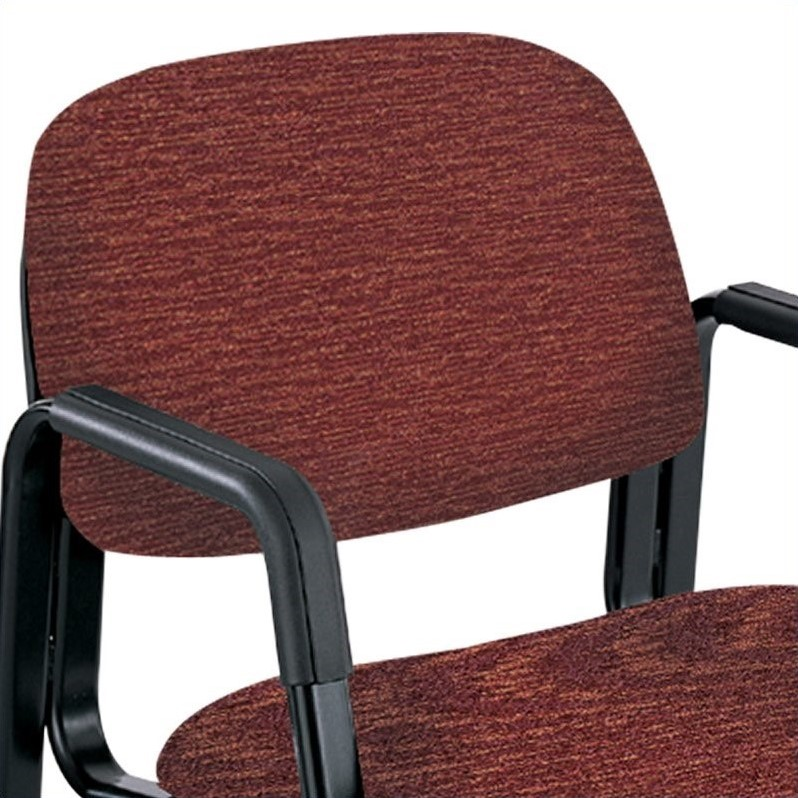Straight Leg Guest Chair in Burgundy