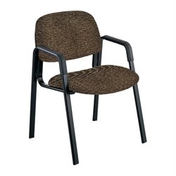 Safco Cava Urth Straight Leg Guest Chair in Brown