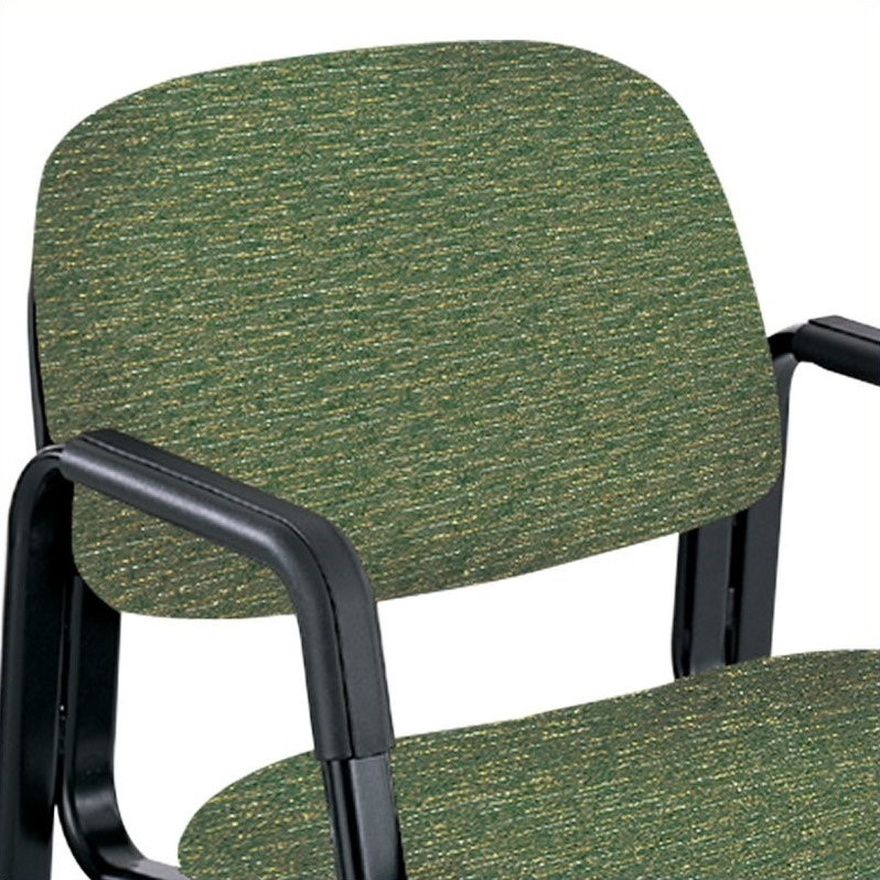 Safco Cava Urth Straight Leg Guest Stacking Guest Chair in Green