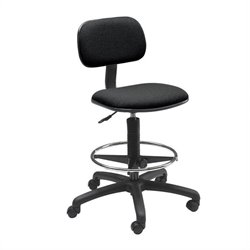 Safco Economy Extended Height Drafting Chair in Black