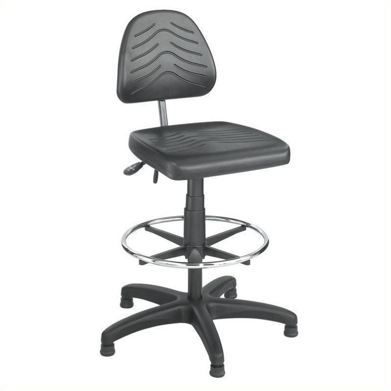 Deluxe Dark Grey Workbench Drafting Chair/Drafting Chair
