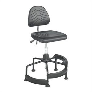 Deluxe Industrial Drafting Chair/Drafting Chair in Dark Grey