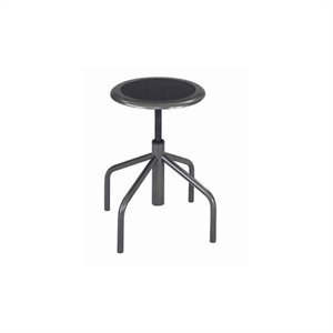 Backless Low Base Industrial Drafting Chair in Black