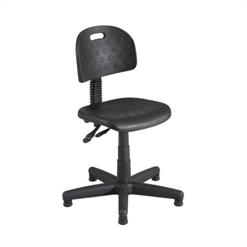 Soft Tough Deluxe Black Task Chair/Drafting Stool