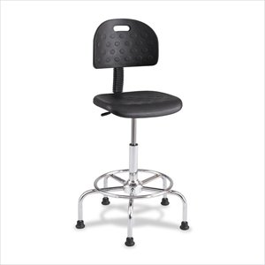 Safco Soft Tough Black Economy Industrial Drafting Chair