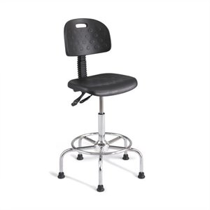 Soft Tough Deluxe Industrial Drafting Chair in Dark Gray