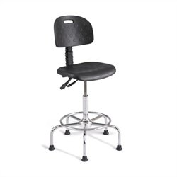 Safco Soft Tough Deluxe Industrial Drafting Chair in Dark Gray