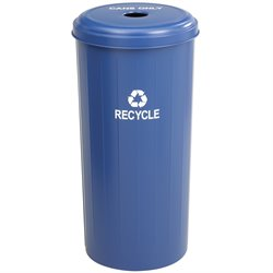 Safco Tall Round Recycling Receptacle in Blue