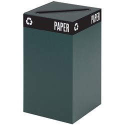 Safco Public Square Green Recycling Receptacle Base