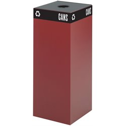 Safco Public Square Burgundy Recycling Receptacle Base