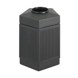 Safco Canmeleon Series Pentagon Indoor Outdoor Receptacle (Large) in Black