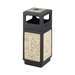 Safco Canmeleon Series Outdoor Aggregate Panel Side Opening Receptacle with Urn