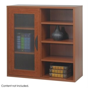 Safco Après™  Modular Storage Single Door/ Open Shelves in Cherry