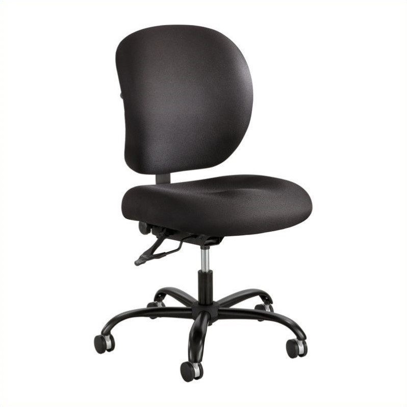 Alday 24/7 Armless Task Chair in Black