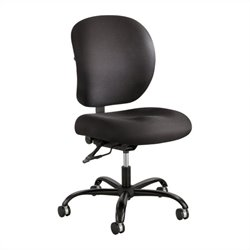 Safco Alday 24/7 Armless Task Chair in Black