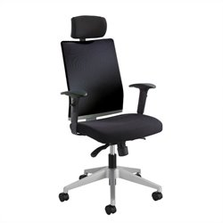 Safco Tez™ Manager Chair with Headrest in Black
